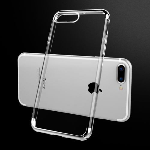 Apple Iphone 8 Luxury Ultra Slim Shockproof Silicone Silver Case