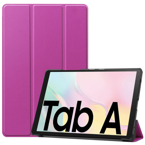 Samsung Galaxy Tab A7 10.4 2020 T500 T505 Purple  PU Leather Flip Smart Case Cover