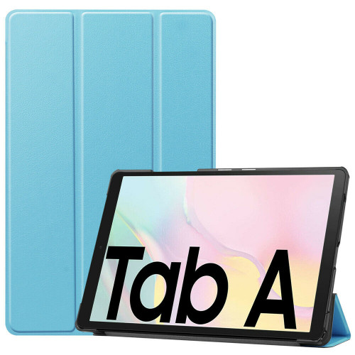 Samsung Galaxy Tab A7 10.4 2020 T500 T505 Sky Blue PU Leather Flip Smart Case Cover