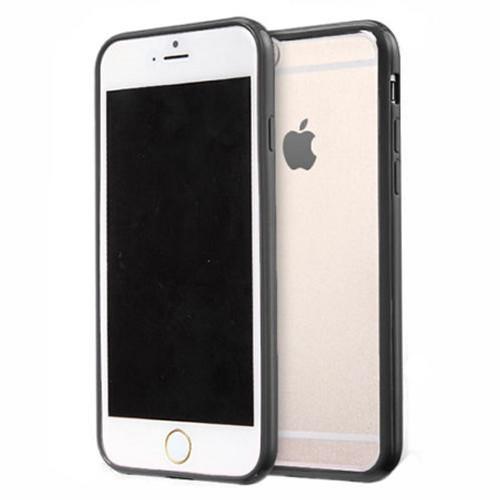 Apple iPhone 8 Plus  Clear Transparent Back Hard Case TPU Silicone Bumper Cove Black