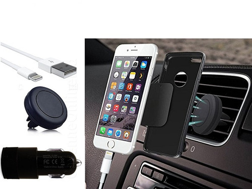 Car Charger with Magnetic Phone Holder and Type C Cable For Samsung Galaxy S10e