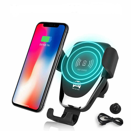 Qi Wireless Charger Car Phone Mount Holder Bracket For iPhone XR XS 11Samsung S10 s20