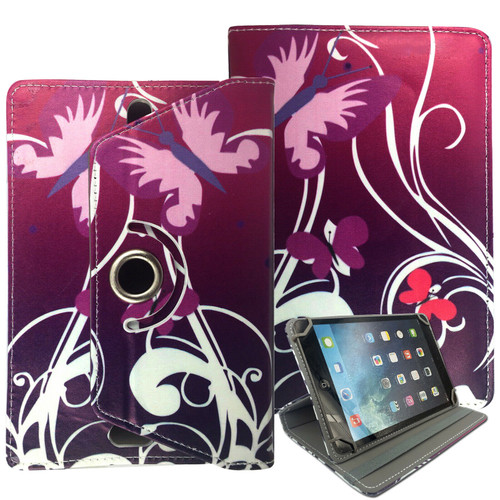 Samsung Galaxy Tab A7 10.4 2020 T500 T505 butterfly on purple Folding Stand Cover