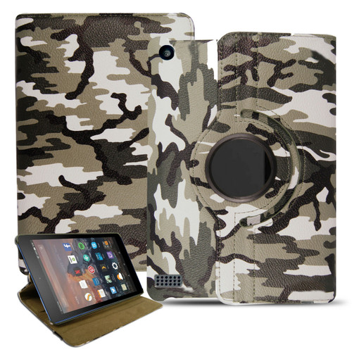 Amazon Kindle Fire HD 7 2017 th Gen  Camouflage Smart Leather Stand Case
