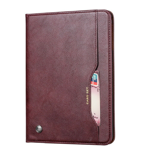Samsung Galaxy Tab A7 2020 T500 T505 Wallet Wine Red Leather case