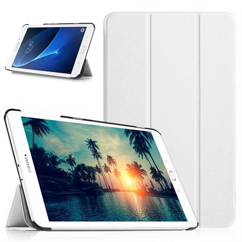 Samsung Galaxy Tab A 10.1 T580 T585 2016 360 White Smart Leather Stand Case
