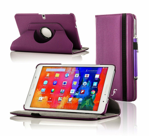 Samsung Galaxy Tab A 10.1 T580 T585 2016 360 Purple Smart Leather Stand Case