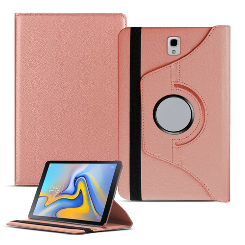 Samsung Galaxy Tab A 10.1 T580 T585 2016 360 Rose Pink Smart Leather Stand Case