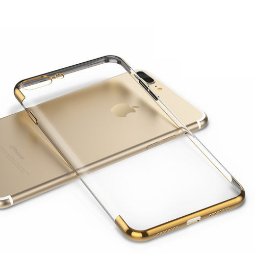 Apple Iphone 8 Plus Luxury Ultra Slim Shockproof Silicone Gold Case