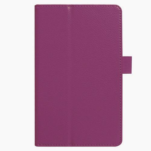 Amazon Kindle Fire HD 7 5th Gen 2015  Purple Flip Magnetic Smart Leather Stand Case