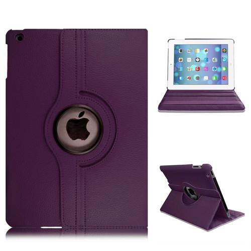 Amazon Kindle Fire HD 7 5th Gen 2015  360 Purple    Smart Leather Stand Wallet Case