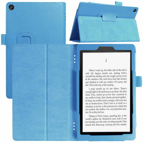 Amazon Kindle Fire  HD 8 (2018) Blue Tablet Magnetic Smart  Stand  Case