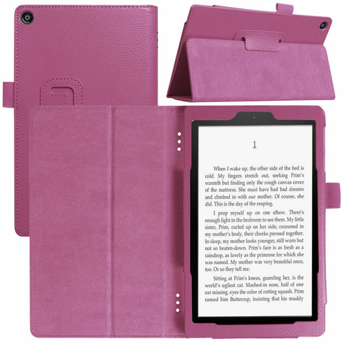 Amazon Kindle Fire  HD 8 (2018) Purple Tablet Magnetic Smart  Stand  Case