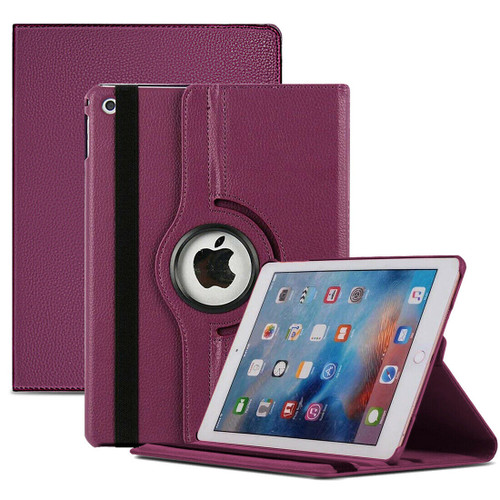 Purple PU Leather 360 Rotating Case for iPad  10.2 8th Gen 2020
