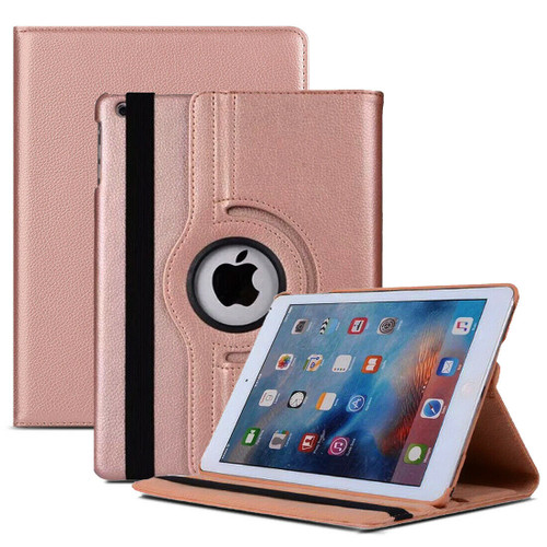 Rose Gold PU Leather 360 Rotating Case for iPad  10.2 8th Gen 2020
