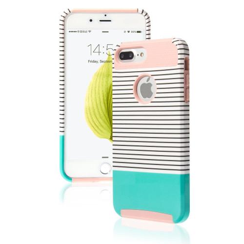 Apple iPhone 8 Plus Shockproof Hybrid Minty Rugged Rubber Hard Back Case