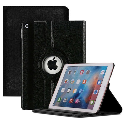 Black PU Leather 360 Rotating Case for iPad  10.2 8th Gen 2020