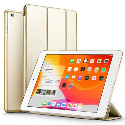 Gold Slim Magnetic Leather Smart Stand Case Cover For iPad 10.2 (2020) 8th Generation