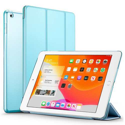 Sky Blue Slim Magnetic Leather Smart Stand Case Cover For iPad 10.2 (2020) 8th Generation