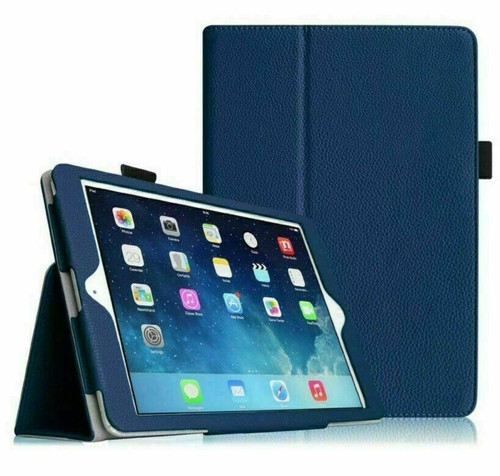 Blue Leather Flip Smart Stand Case Cover for iPad  10.2 8th Gen 2020