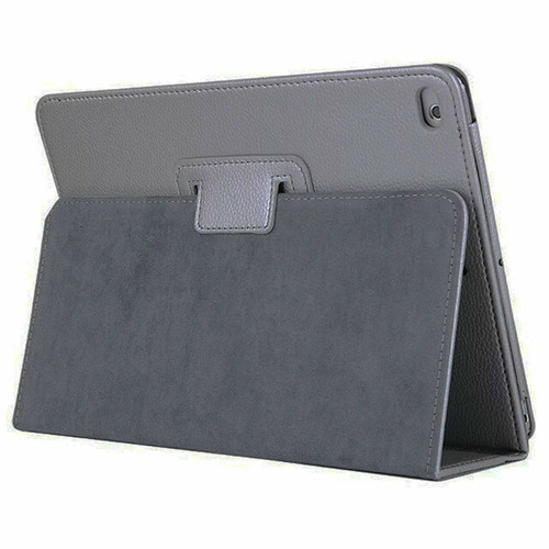 Grey Leather Flip Smart Stand Case Cover for iPad  10.2 8th Gen 2020