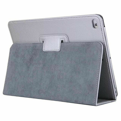 Silver Leather Flip Smart Stand Case Cover for iPad  10.2 8th Gen 2020
