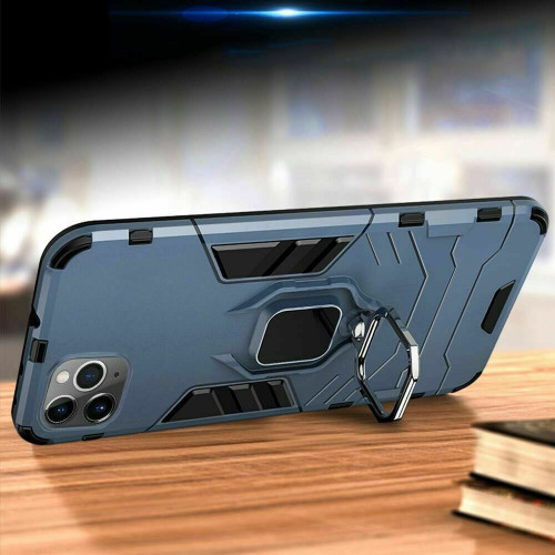 Apple iPhone  12 Mini  Space Blue  Shockproof Rugged 360 Ring Stand Armor Cover