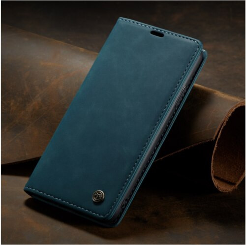 Apple iPhone  12 Pro Max  Turquoise   Luxury Caseme Leather Flip Wallet Stand Cover