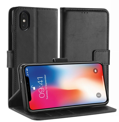 Apple iPhone  12 Pro Max  Black Pu Leather Wallet Case