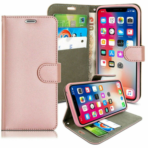 Apple iPhone  12 Rose Gold Pu Leather Wallet Case