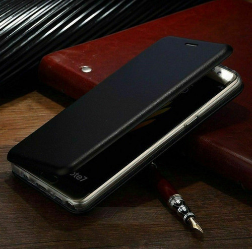 Apple iPhone  12 Black Luxury 360 Shockproof Leather Wallet Case Cover