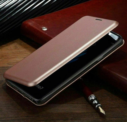 Apple iPhone  12 Pro  Rose Gold Luxury 360 Shockproof Leather Wallet Case Cover