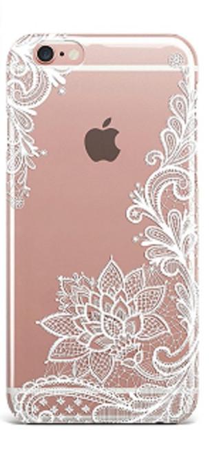 Apple iPhone 8 Plus Wedding Lace White Silicon Case