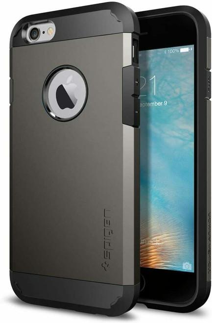 iPhone 6S Case, Spigen Tough Armor Shockproof Protective Cover - Gunmetal