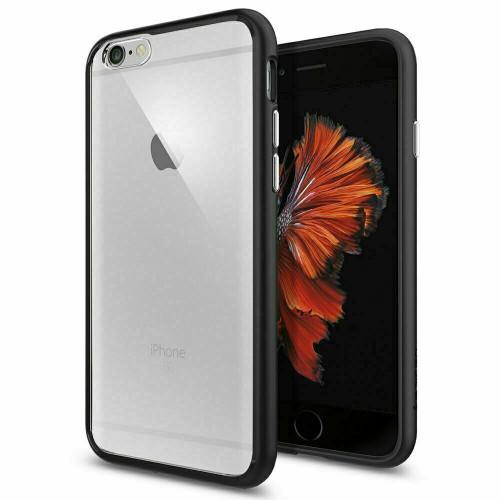 iPhone 6S Case, Spigen Ultra Hybrid Protective Slim Cover - Black