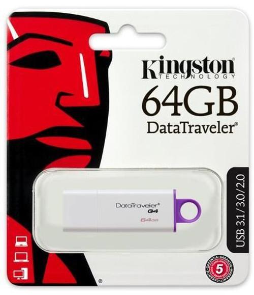 Kingston DataTraveler G4 64GB USB 3.0 Flash Drive DTIG4/64GB