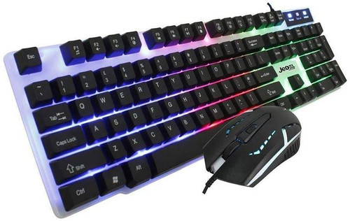 Jedel RGB LED Gaming Keyboard And Mouse