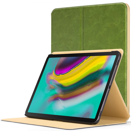 Samsung Galaxy Tab S5e 10.5 Smart Case Green Luxury Magnetic Protective Cover Stand
