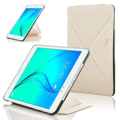 White Leather Origami Smart Case Cover for Samsung Galaxy Tab A 8.0 2015 T350