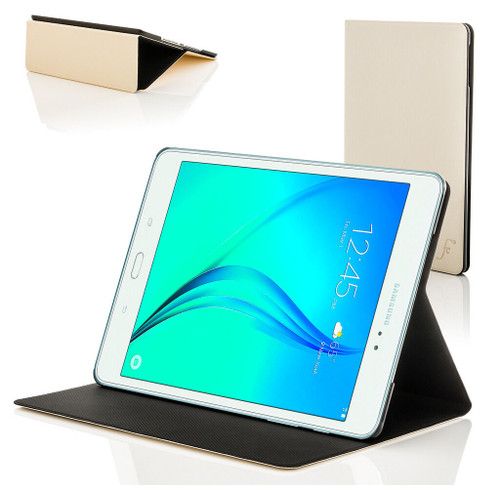 White Leather Clam Shell Smart Case Cover for Samsung Galaxy Tab A 8.0 2015 T350
