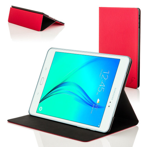 Red Leather Clam Shell Smart Case Cover for Samsung Galaxy Tab A 8.0 2015 T350