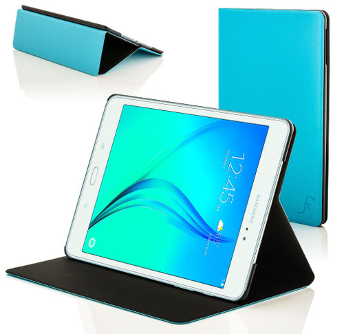 Blue Leather Clam Shell Smart Case Cover for Samsung Galaxy Tab A 8.0 2015 T350