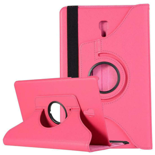 Samsung Galaxy Tab A 10.5 SM-T590 T595 Leather 360 Stand Cover  Pink Case
