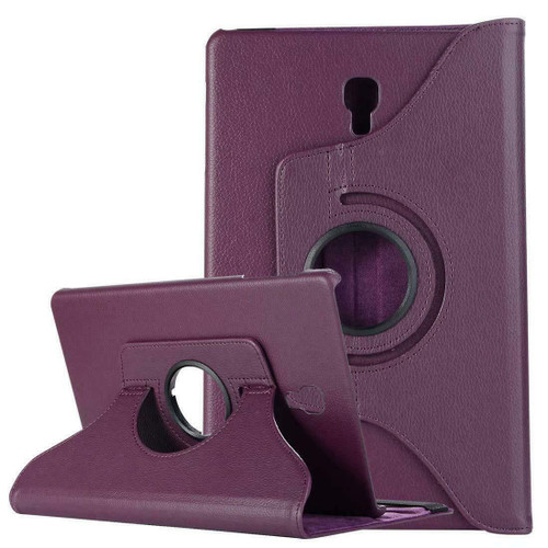 Samsung Galaxy Tab A 10.5 SM-T590 T595 Leather 360 Stand Cover  Purple Case