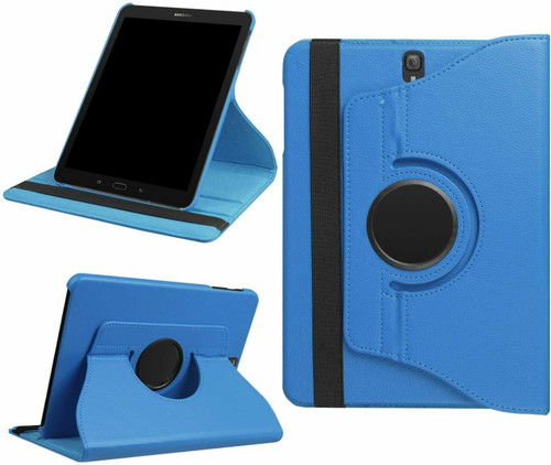 Samsung Galaxy Tab A 10.5 SM-T590 T595 Leather 360 Stand Cover  Sky Blue Case