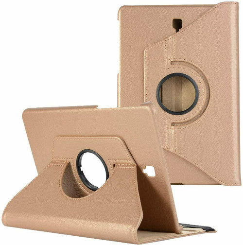 Samsung Galaxy Tab A 10.5 SM-T590 T595 Leather 360 Stand Cover  Gold Case
