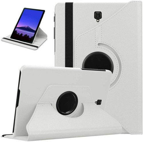 Samsung Galaxy Tab A 10.5 SM-T590 T595 Leather 360 Stand Cover  White Case
