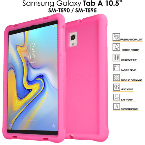 Pink Rugged Soft Silicone Kids Shock Bumper Case for Samsung Galaxy Tab A 10.5 T590