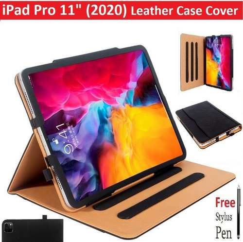 "Apple iPad Pro 11"" 2nd Gen (2020) Premium Quality Leather Case Cover"