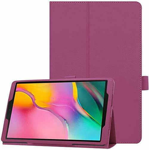 Samsung Galaxy Tab A 10.5 SM-T590 T595 Purple Leather Tablet Stand Flip Cover